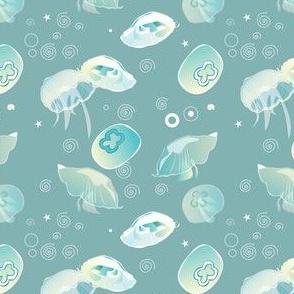 Aqua pattern collabrative | jellyfish
