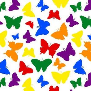 LGBT Pride Rainbow butterflies