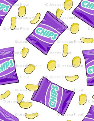 bag of chips - purple