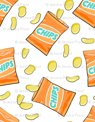 bag of chips - orange