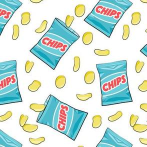 bag of chips - blue