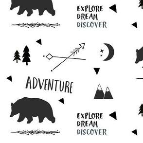 Bear Adventure MED7 - black and white