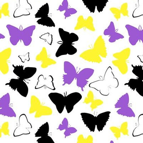 Non Binary Pride butterflies