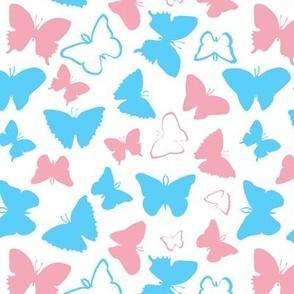 trans pride butterflies