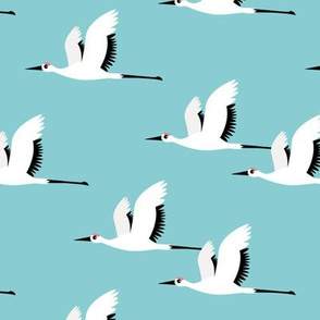 Summer is coming and so are the birds sweet Scandinavian minimal style crane bird flock boys blue