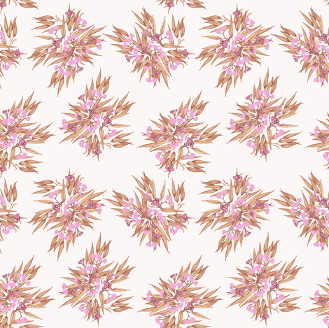 Gumnuts Ditsy Rose Gold Pink, Mini fabric by thistleandfox on Spoonflower - custom fabric