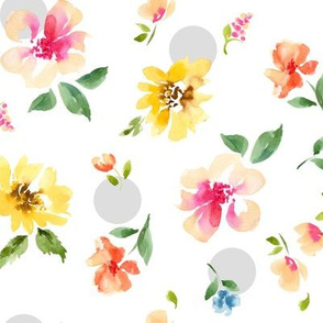 floral with dots