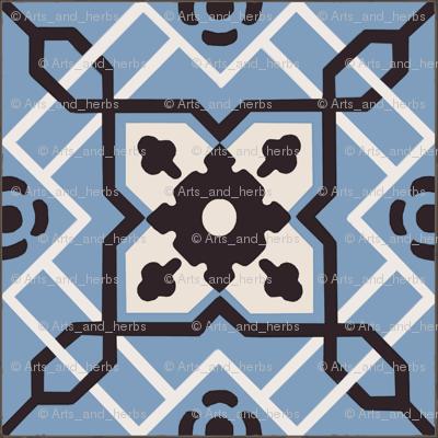 Blue Antique Tiles