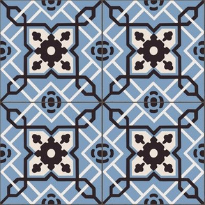 Blue Antique Tiles