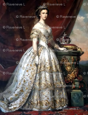 queens princesses crowns white gold gowns bridal bride tiaras gilt roses baroque victorian wedding marriage coronation beauty royal castles empresses ballgowns rococo royal portraits palace beautiful lady woman elegant gothic lolita egl neoclassical  hist