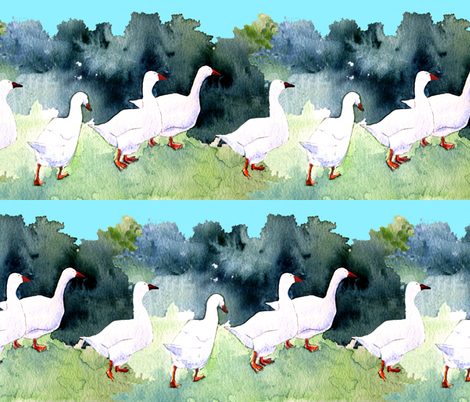 Roman Geese fabric by marigoldpink on Spoonflower - custom fabric