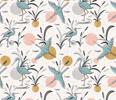 Marshland  fabric by heatherdutton on Spoonflower - custom fabric