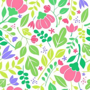 pink bud leaf pattern