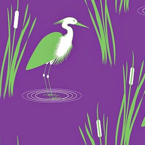 Egrets and Cattails
