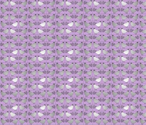 Birdie Gray 2 fabric by sharon-nm on Spoonflower - custom fabric