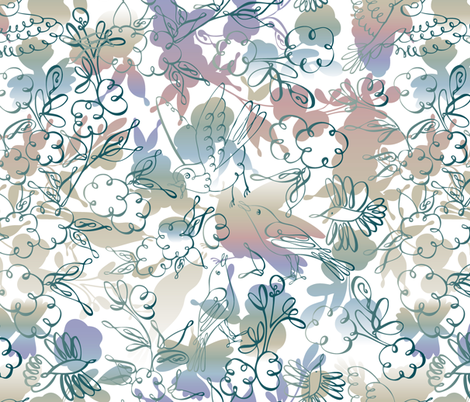 Inspiration of Flight fabric by talanaart on Spoonflower - custom fabric