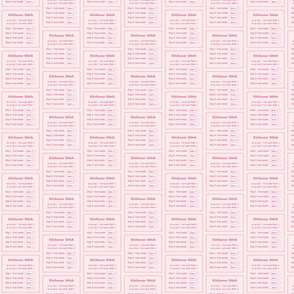 Kitchener stitch grafting cheat sheet-pink on pink
