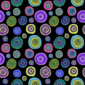 Colorful mini mandalas