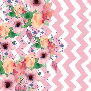 Pink Chevron Floral