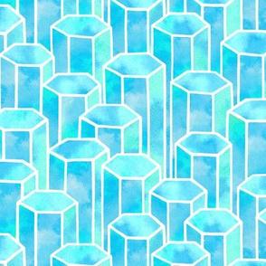 Turquoise Hexagonal