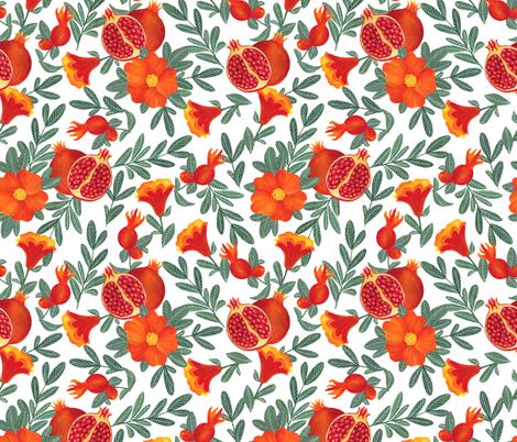 Pomegranate fabric by juliabadeeva on Spoonflower - custom fabric