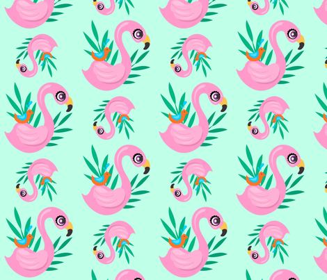 Flamingo This fabric by thepinkhome on Spoonflower - custom fabric