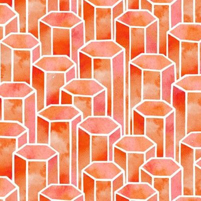 Orange Hexagonal