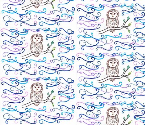 Night Bird fabric by kate's_kwilt_studio on Spoonflower - custom fabric