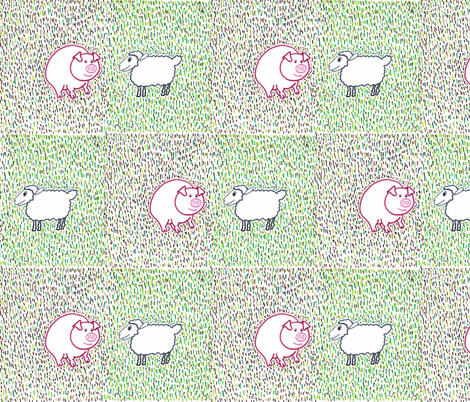 Farmyard Friends fabric by kate's_kwilt_studio on Spoonflower - custom fabric