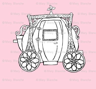 Cinderella's Coach Variation- Pink Background