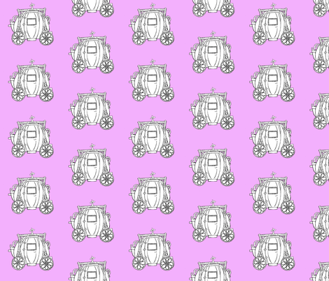 Cinderella's Coach- Lavender Background fabric by essieofwho on Spoonflower - custom fabric