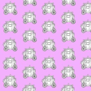 Cinderella's Coach- Lavender Background