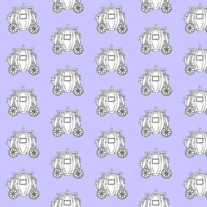 Cinderella's Coach- Blue Background