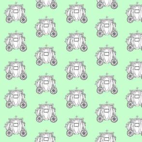 Cinderella's Coach- Green Background