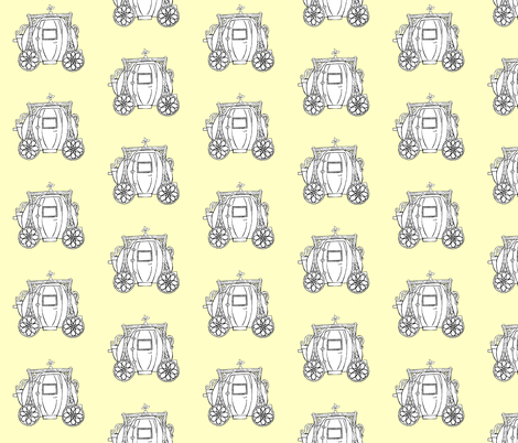 Cinderella's Coach- Yellow Background fabric by essieofwho on Spoonflower - custom fabric