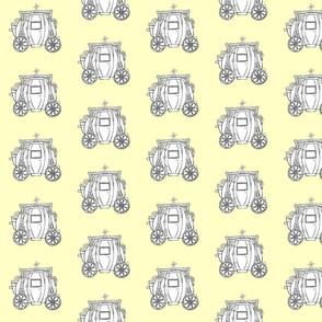 Cinderella's Coach- Yellow Background