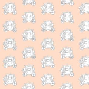 Cinderella's Coach Grey Variation- Peach Background