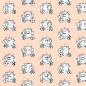 Cinderella's Coach- Peach Background
