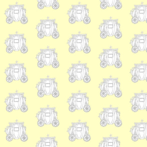 Cinderella's Coach Grey Variation- Yellow Background
