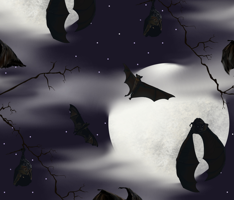 BATS a HUNTIN fabric by house_of_heasman on Spoonflower - custom fabric