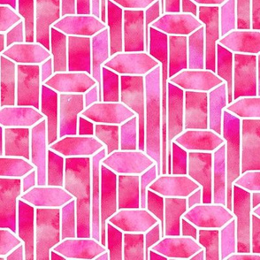 Pink Hexagonal