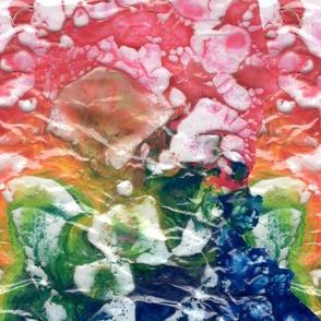 Plastic paint bubbles