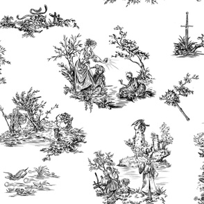 """Dungeons & Dragons Toile Pattern"""""""""""