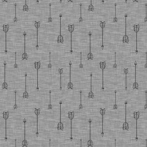 Arrows on Linen - steel