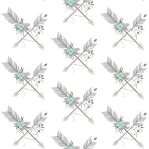 "6"" BoHo Arrows - Aqua"