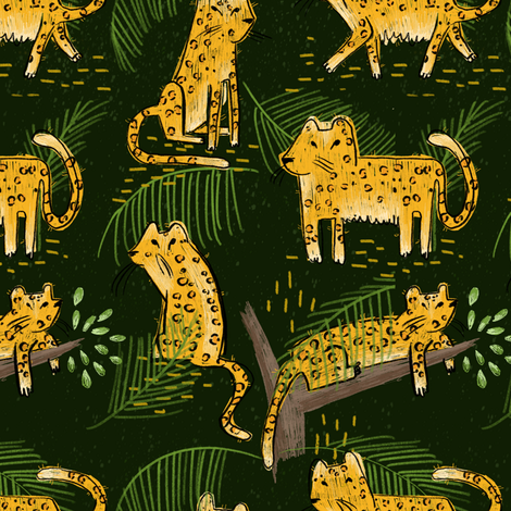 Animalsbyland fabric by mariamottaillustration on Spoonflower - custom fabric