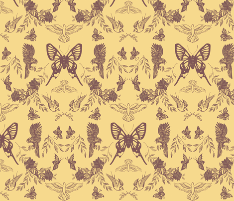 moths and hawks fabric by allison_crary on Spoonflower - custom fabric