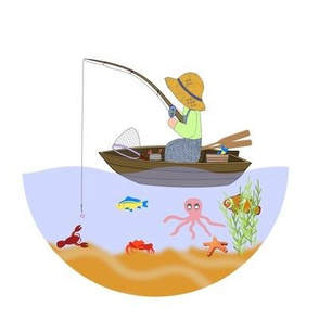 Fishing from boat