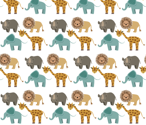 Safari on Parade fabric by mintparcel on Spoonflower - custom fabric
