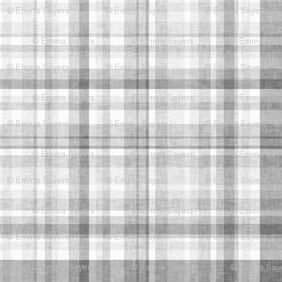 Grey Linen Plaid